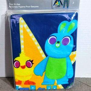 Disney Pixar Toy Story 4 Boys PJ Set Ducky & Bunny